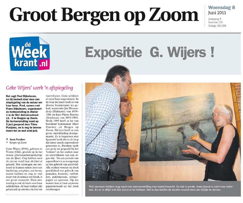 Solo-expositie Geke Wijers (Jun \'11)