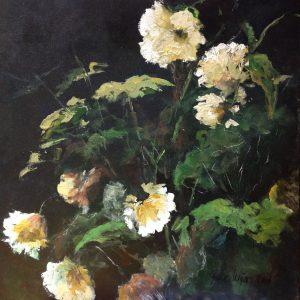 Schilderij bloemen geel